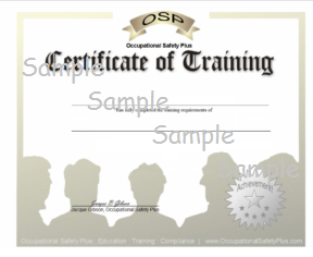 Sample Certificate of Training Image